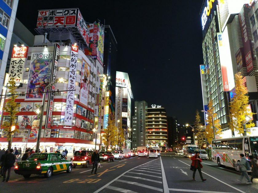 秋葉原駅前の夜景。都会の夜景程度の明るさでは全然余裕って感じ。画像に残してないけど、明かりのほとんどない部屋で撮ったら、石川国同様何が写ってるか分からない感じでした。ただ、ノイズがなかったので、多少の明かりがあれば何が写ってるか分かる程度には撮れると思う。