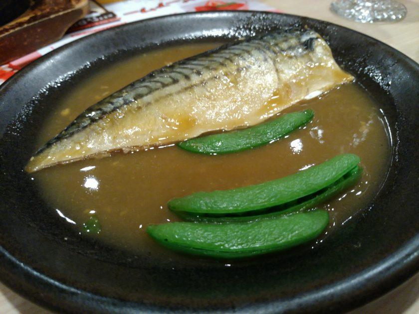 これもガストで撮った、サバの味噌煮。