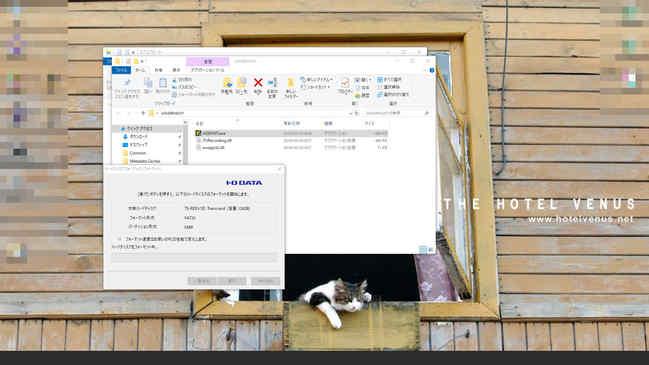 iohddfmt231フォルダが出来るので、exeファイルを実行し、対象のSDカードを選択し、そのままフォーマットします。