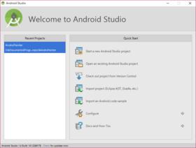 Android Studio、import projectでEclipseで作成したアプリのインポートを行う