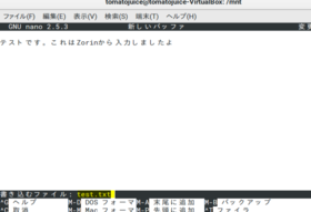 VirtualBoxでファイル共有@「sudo pico」でpicoエディタを管理者権限で起動し、テスト入力&保存