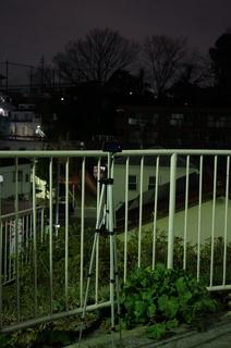 板橋区、中台のとある場所でタイムラプス撮影
