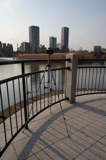 上野の不忍池でiPhone 5Sでタイムラプス撮影