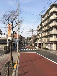 下赤塚~赤塚溜池公園へ続く道の風景