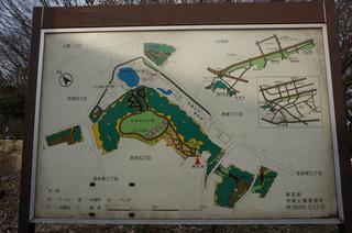 赤塚溜池公園の鳥瞰図