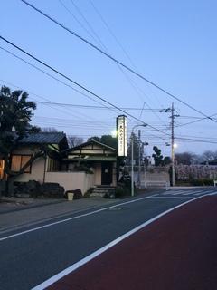 東京大仏付近の夕暮れ時の風景