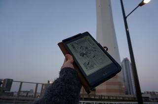 池袋、豊島清掃工場付近でNexus7であごゲンを読んでた