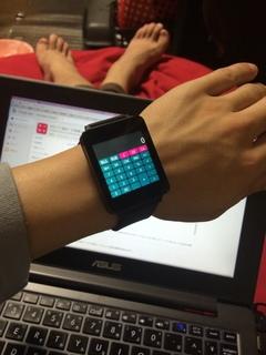 ポケット電卓・計算機 with Android Wearの実演!