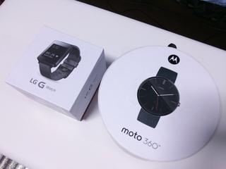 Android Wear Moto360 Smart WatchとLG G Watch W100の外装比較