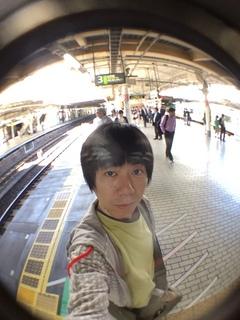 国立科学博物館の大アマゾン展観覧@上野駅にて自分撮り