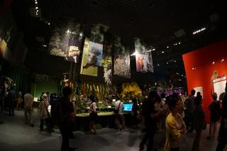国立科学博物館の大アマゾン展観覧の風景