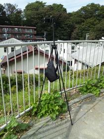 板橋区上板橋、前野町付近の公園でタイムラプス撮影開始