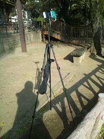 板橋区の見次公園でタイムラプス撮影開始