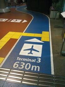 成田空港第三ターミナルへの道