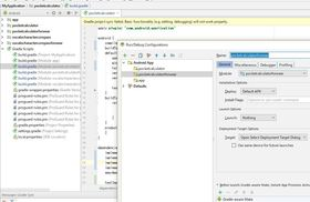 Android Studio、Edit ConfigurationでAndroid app(Module)を追加