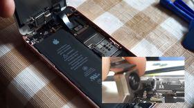 6_iPhone SE本体(SoC)と液晶パネルと取り付ける