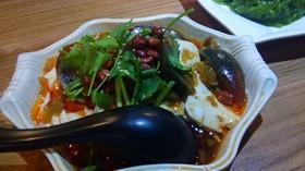 ピータンと豆腐の料理