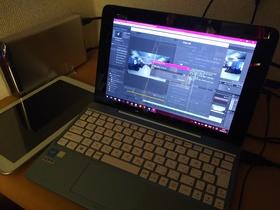 今日の動画はこのASUS TransBook T100HAで即席で仕上げました