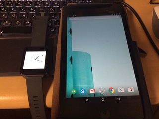 Nexus 7 2013とLG G Watch W100